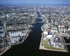 加藤議員:中川運河俯瞰写真