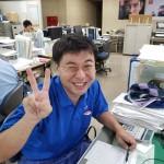 住江工業労組 写真③ コメント者 営業G 川口さん